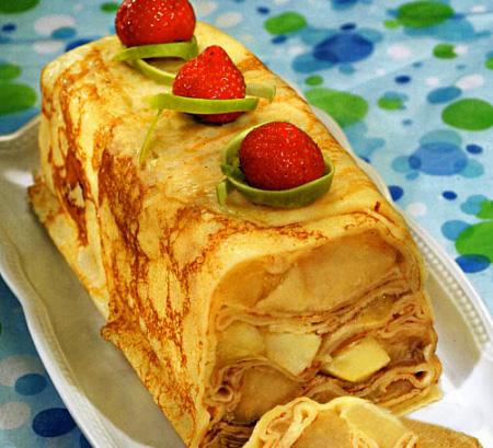 Пирог с блинами внутри