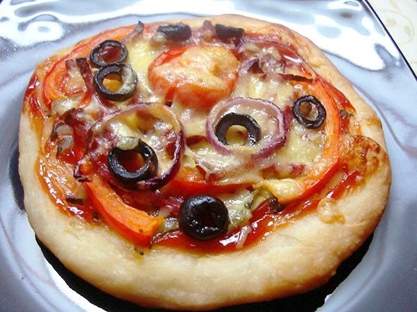 пицца рецепт с малыми ингредиентами