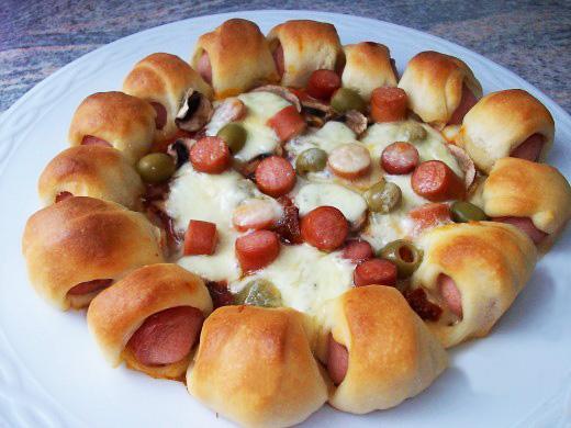 Пицца с сосисками рецепт с фото