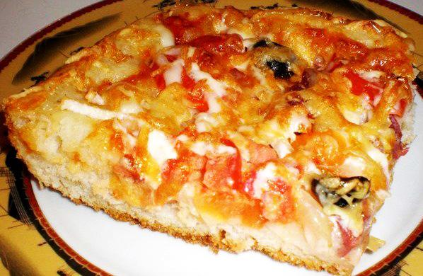 Тесто для пиццы пышное рецепт