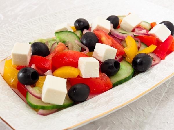 Классический греческий салат рецепт фото