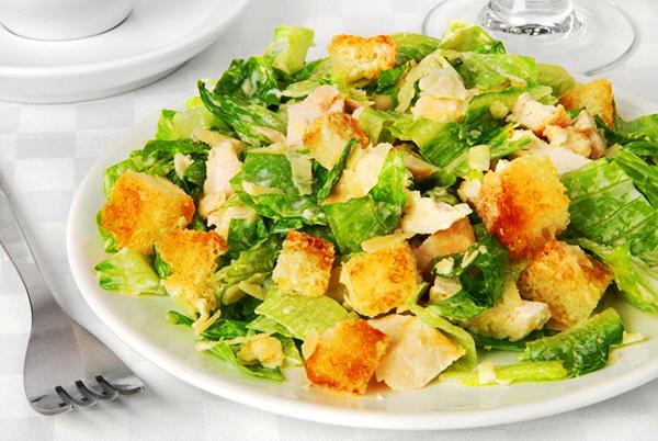 Салат цезарь из куриной грудки рецепты с