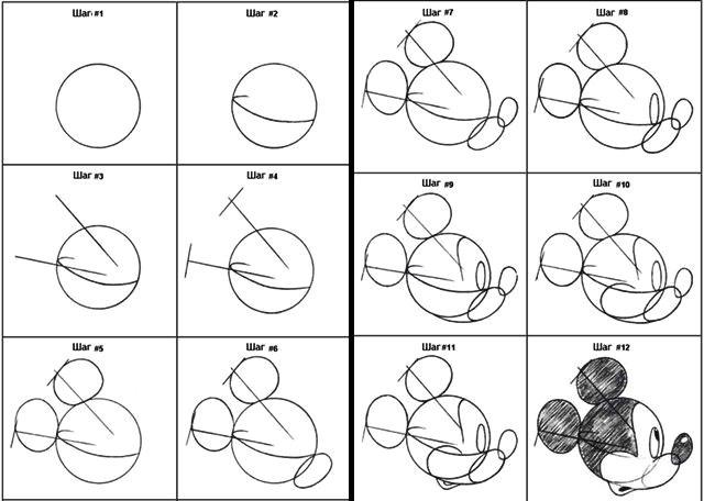 Учимся рисовать героев Диснея.  Рисунок 11 (из 12-ти)