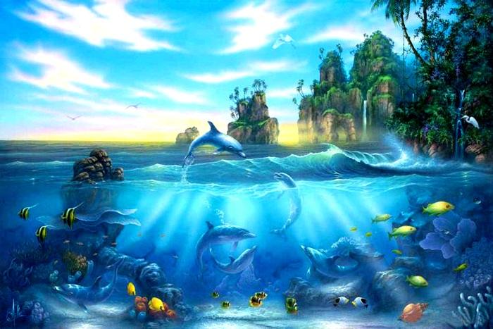 Сказочные рисунки о море