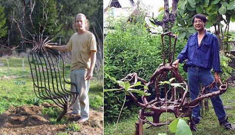 Разнообразные кресла, стулья, сиденья – отдельная тема (фото с сайта growingvillage.com).