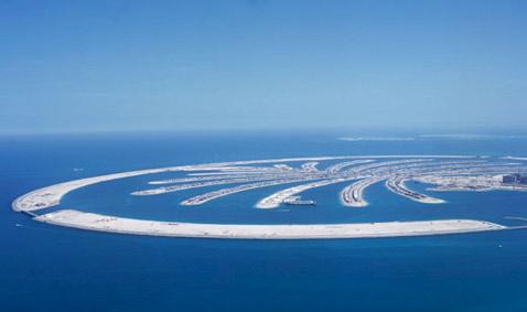 Примерно в таком состоянии первый искусственный остров пребывает в настоящее время (иллюстрация с сайта nakheel.ae).