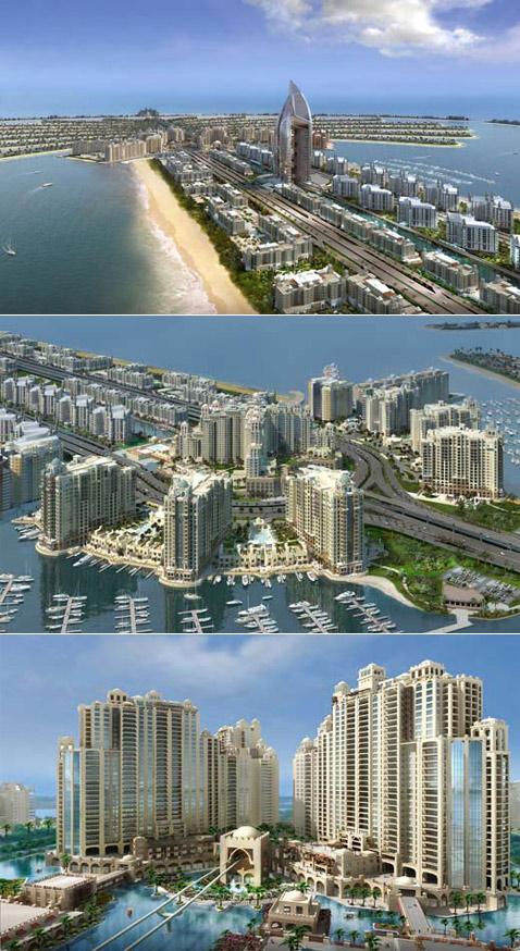 """Вот такой обещают построить на """"Пальма Джамейра"""" город-сад (иллюстрации с сайта nakheel.ae)."""