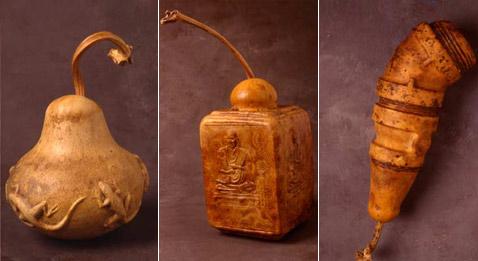 Твёрдая оболочка лангенарии позволяет делать статуэтки и скульптуры с тонким и чётким рельефом (фото с сайта danladd.com).