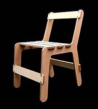 Вот такой из одного листа фанеры получается стул (фото с сайта thechipfactory.co.uk).