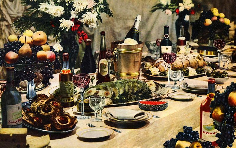 Советский праздничный стол новые фото