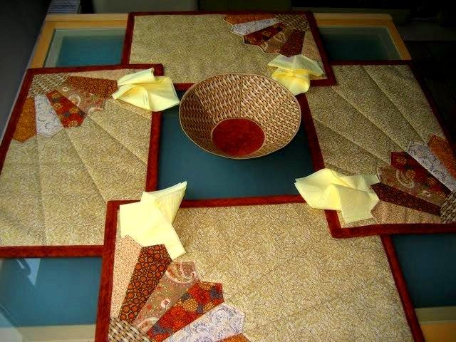 Пэчворк салфетки на стол схемы