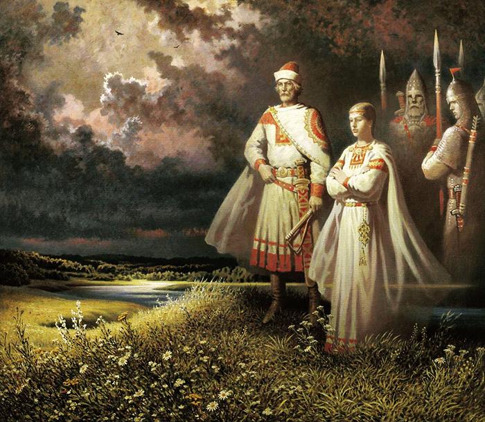 Вышивка крестом славянские боги